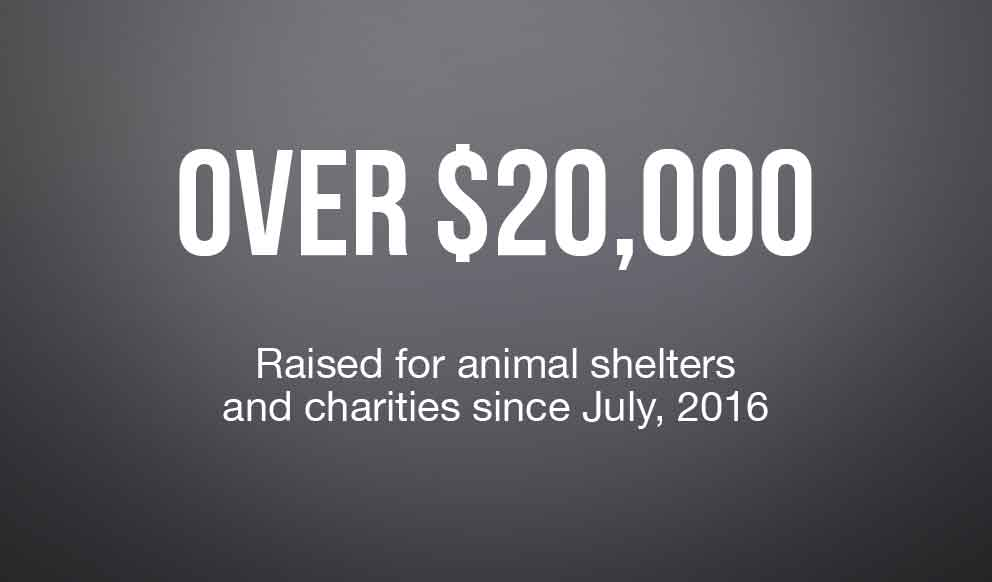 Over $20,000 Raised for Animal Charities