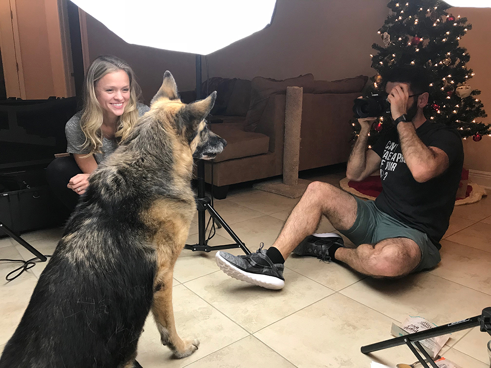 Behind the Scenes of an In-Home Pet Photo Shoot
