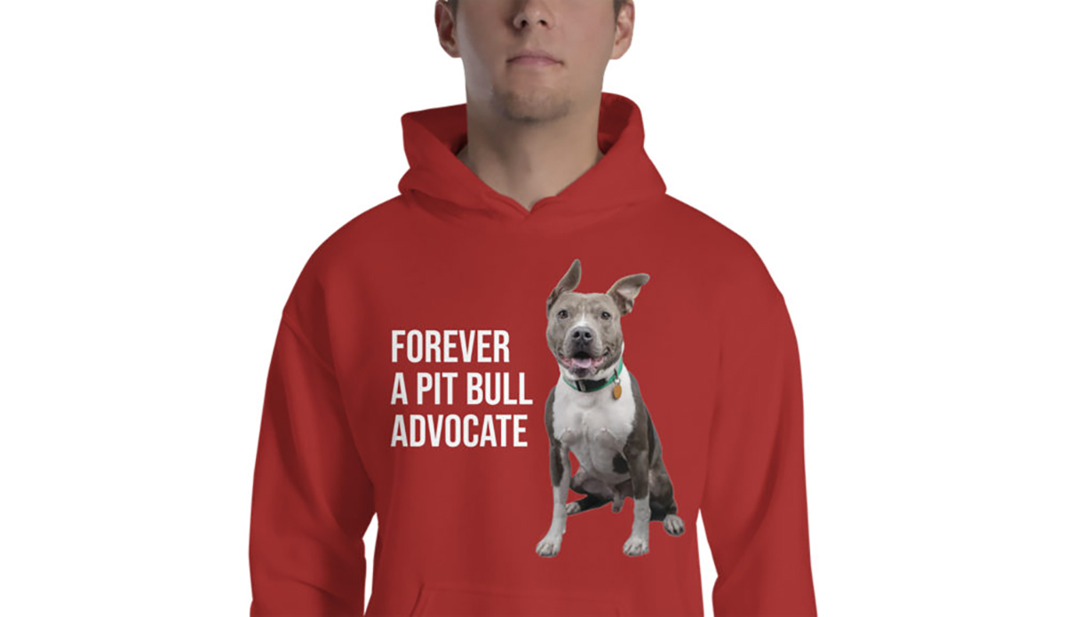 "100% of AGoldPhoto ""Forever a Pit Bull Advocate"" Hoodie to benefit Pit Bull Charities"