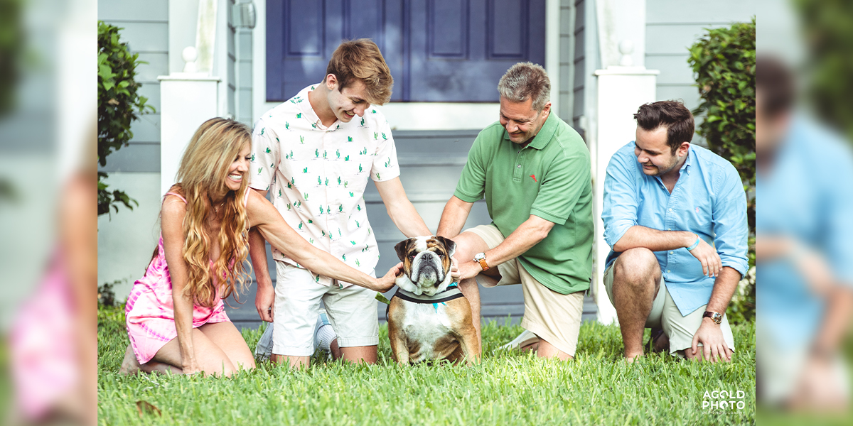 Book a Tampa Front Porch Family and Pet Photo Shoot in June